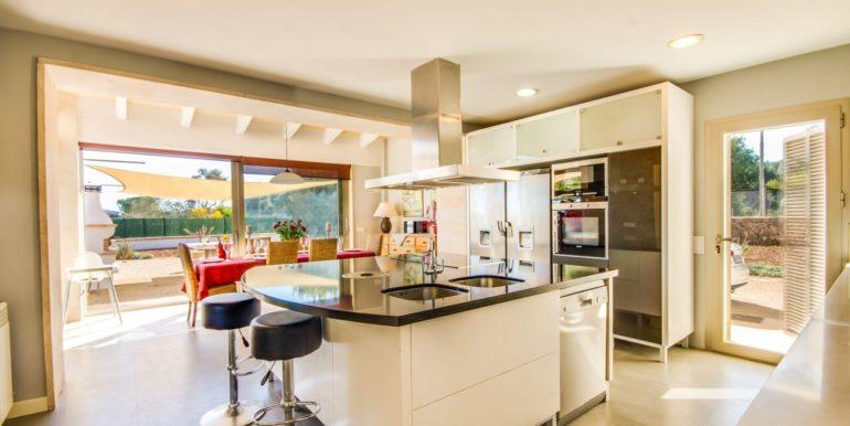offene helle Küche